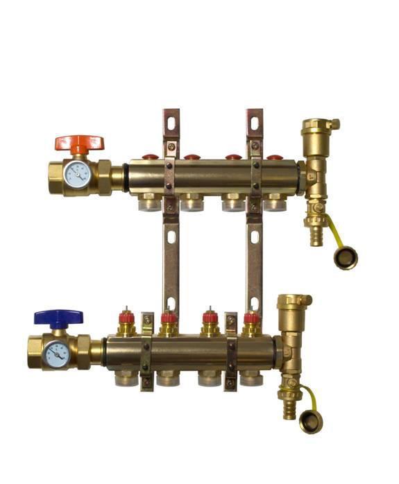 电地暖集水器