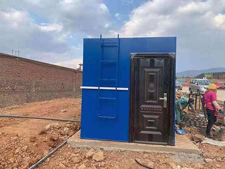 丽江一体化污水处理设备项目施工