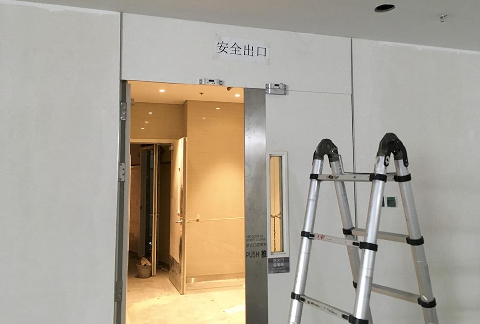昆明恒隆广场售楼部门禁考勤系统安装案例