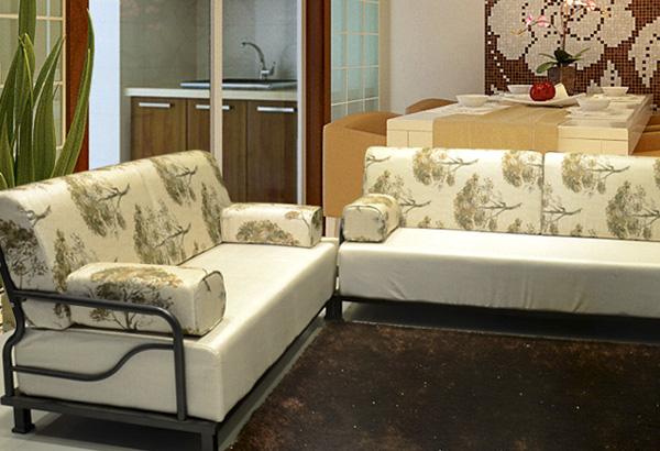 鋼木家具-6606 A型 2+3 沙發