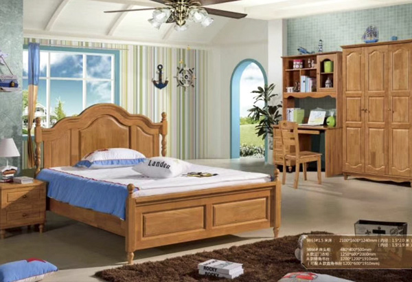 橡木家具床圖片大全