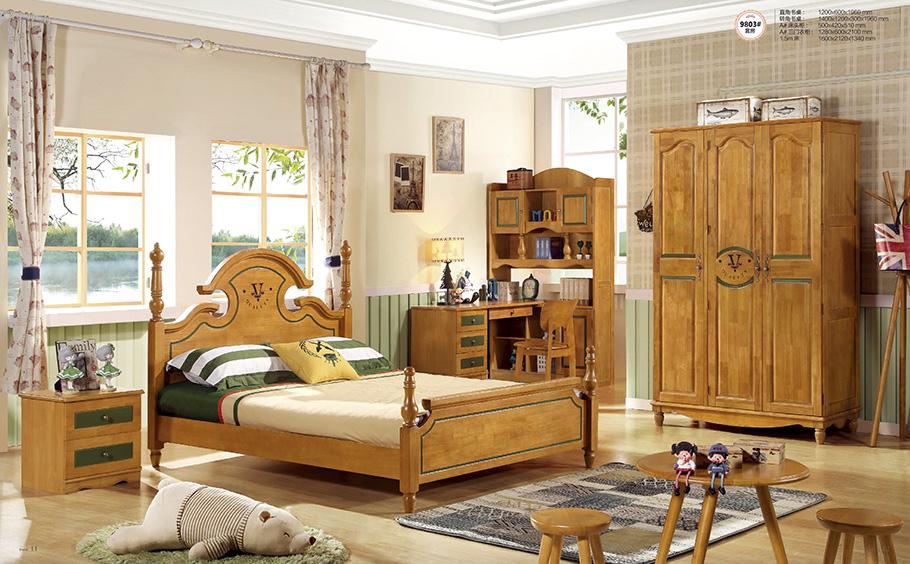 昆明兒童實木家具床圖片展示