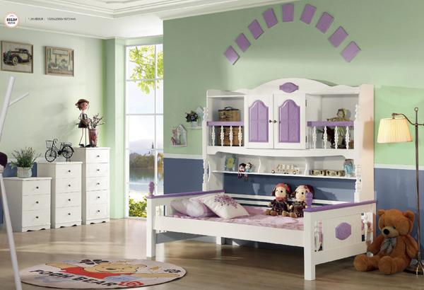紫色兒童家具套房