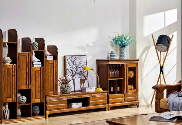 實木家具組合電視柜