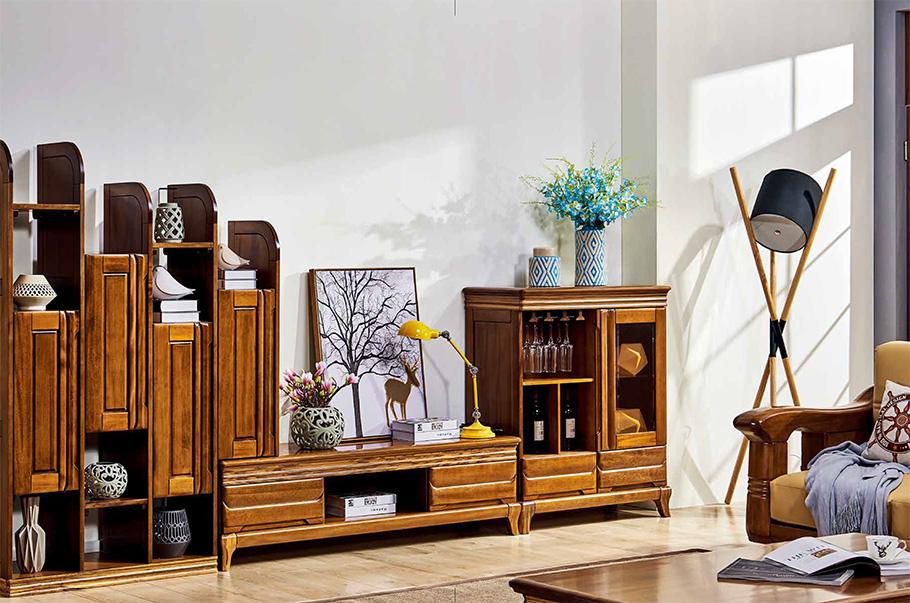 客廳實木家具組合電視柜