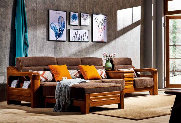 實木家具轉角沙發