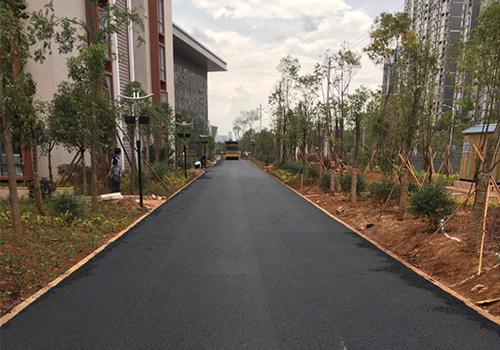 呈貢大學城民族大學瀝青路面施工