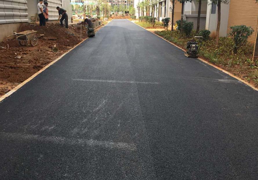 大學道路瀝青路面施工