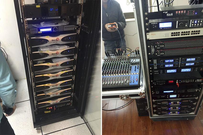 云南会议厅扩声系统设备调试