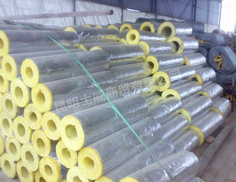 玻璃棉保温管生产