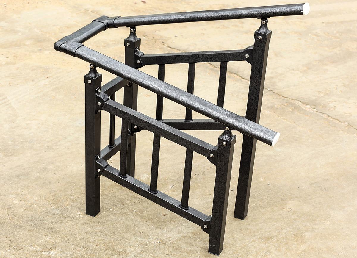 锌钢楼梯扶手安装方法