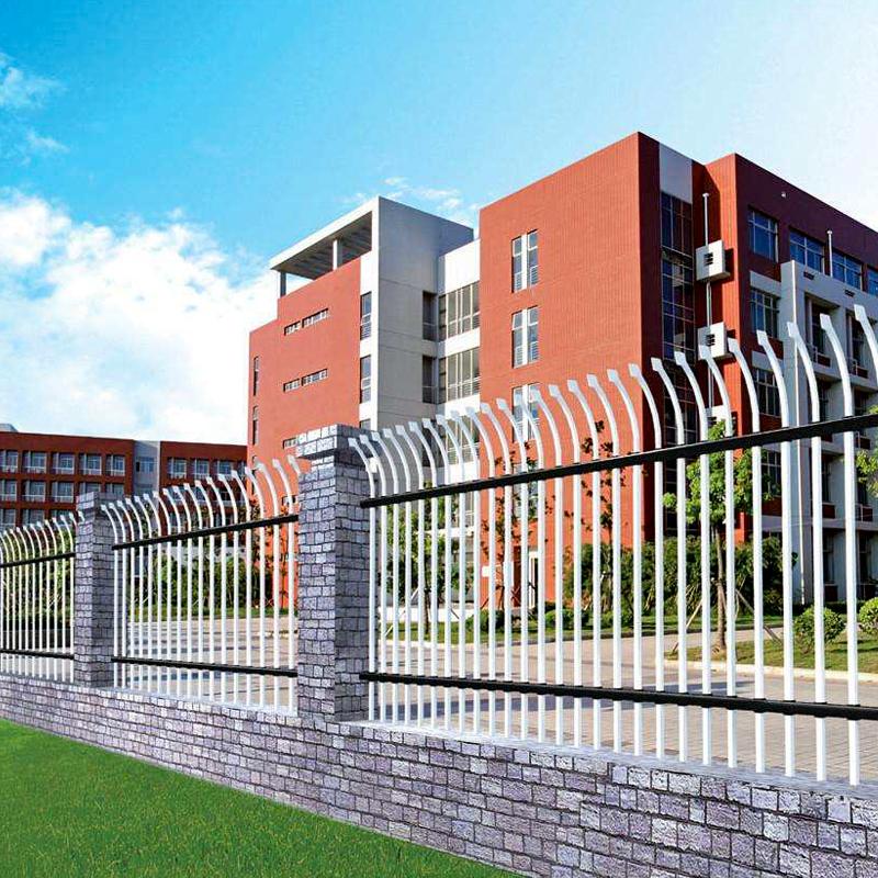 学校围墙锌钢栅栏