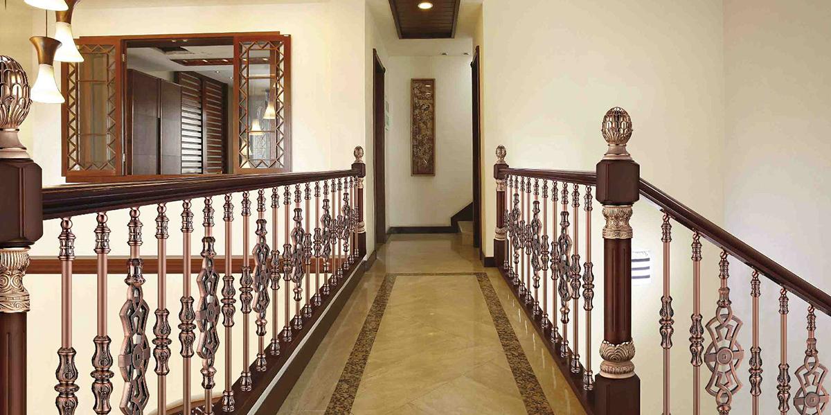 云南铜扶手楼梯在别墅装饰中的运用优势
