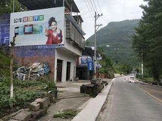墙体广告以低制作低价格高传播的好处占据农村市场