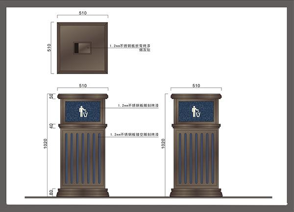 商场垃圾桶定制