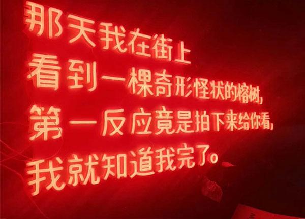 展覽館LED霓虹燈發光字