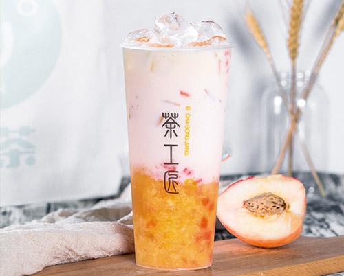 蜜桃牛乳茶