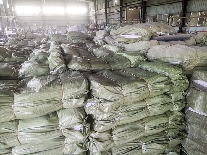 昆明塑料編織袋倉庫展示