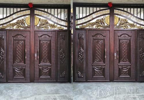 丽江居民院落铁艺大门