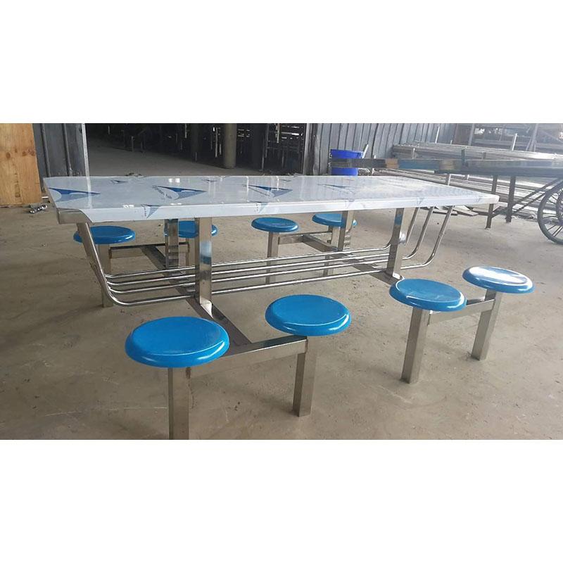 不锈钢8人桌椅