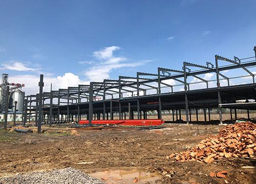 云南定力塑业钢结构厂房大棚设计安装案例