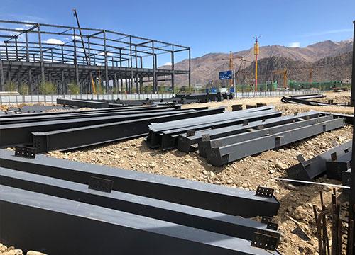 西藏领峰物流厂房钢结构工程案例