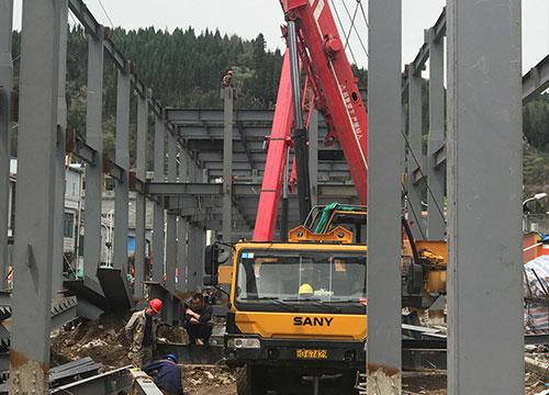 钢结构安装过程
