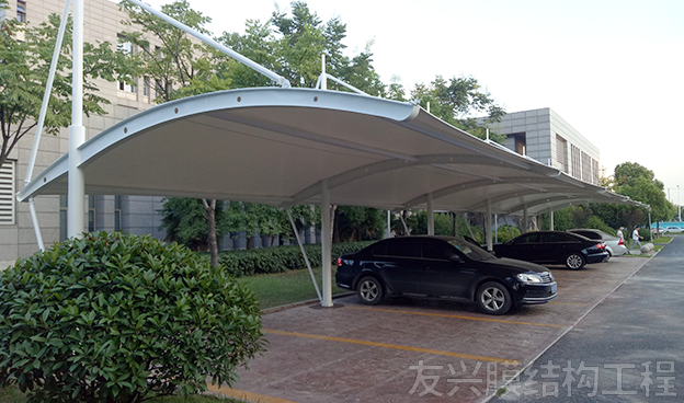 小区车棚膜结构安装
