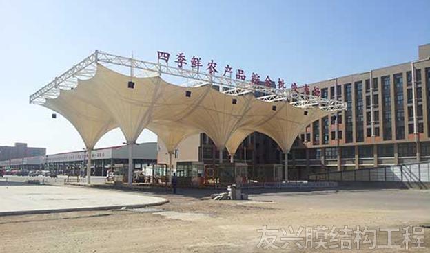 城镇收费站膜结构工程施工