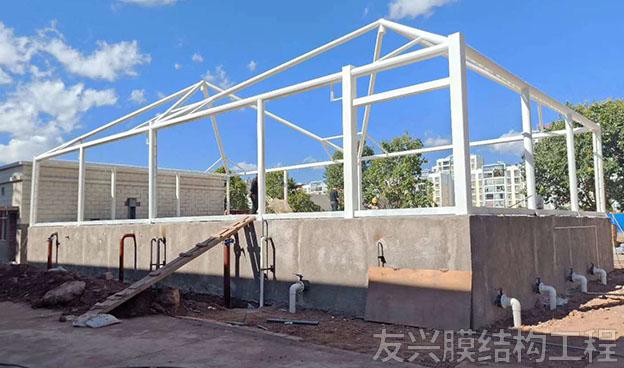 膜结构收费站工程施工