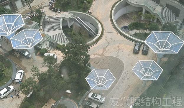 蒙自广场膜结构施工工程
