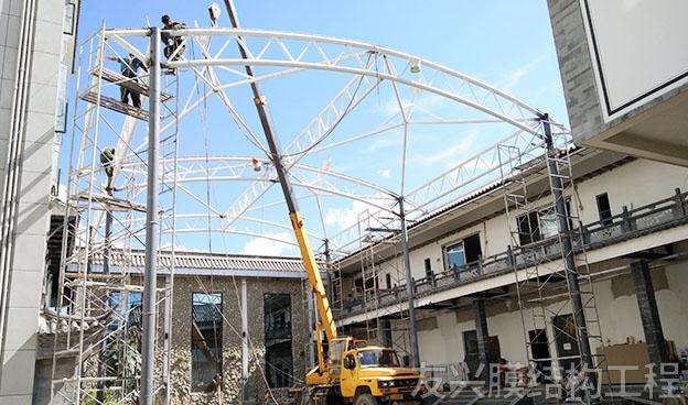 遮陽棚膜結構施工安裝