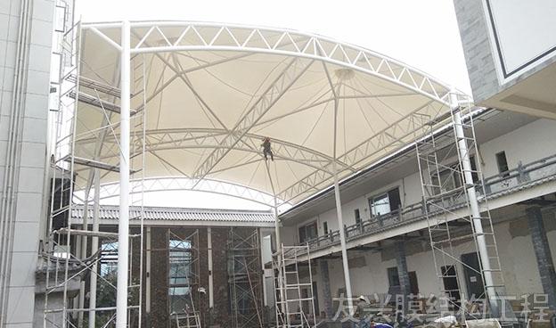 安寧遮陽棚膜結構施工