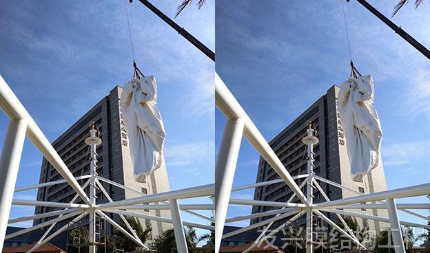 大型酒店膜结构施工