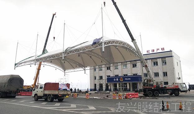 车辆检查站膜结构定制施工
