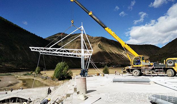 蒙自赛马场膜结构定做施工