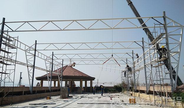 幼儿园景观膜结构施工