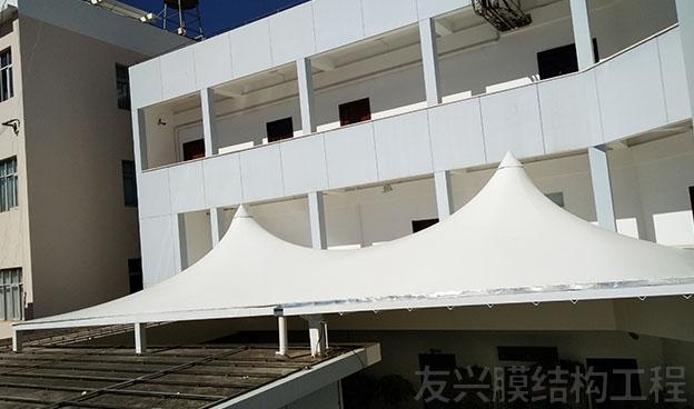 遮阳棚膜结构工程施工
