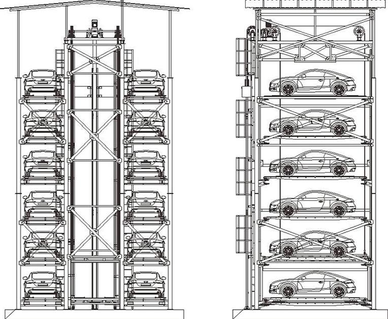 垂直升降式车库