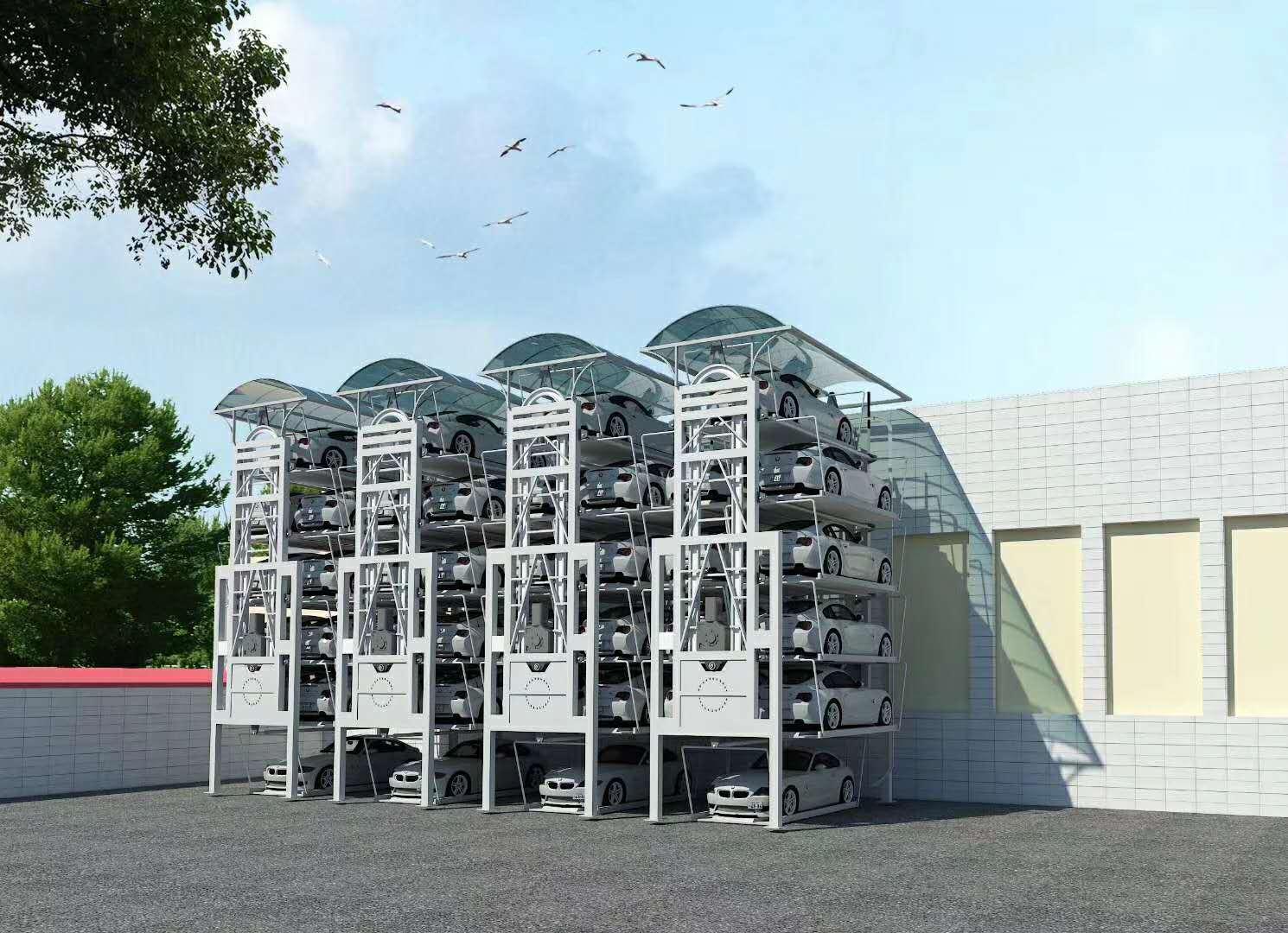 六层四排垂直循环类机械式停车设备