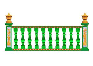 昆明罗马柱模具绿色现浇花瓶柱
