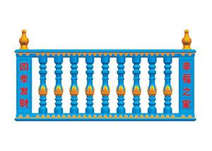 云南昆明罗马柱模具蓝色现浇花瓶柱