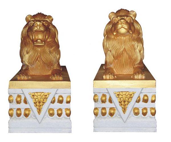 云南罗马柱模具之狮形圆雕