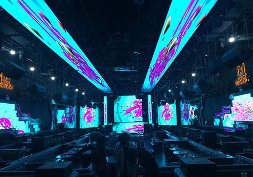 格莱美汇酒吧炫彩LED显示屏主屏