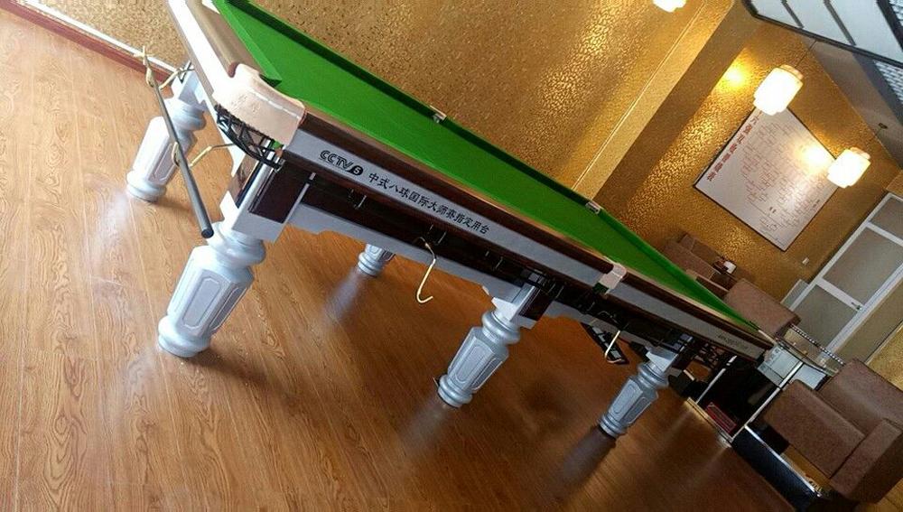 云南桥牌大赛专用银脚钢库台球桌