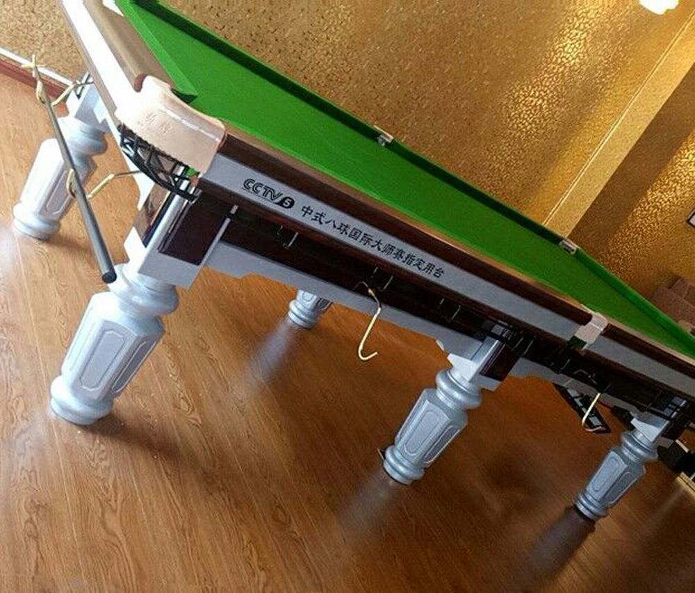 特别推出桥牌大赛专用银脚钢库台球桌