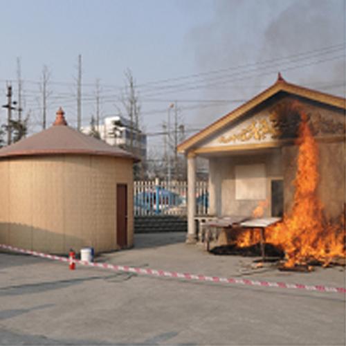 防火——星河建材修建的房屋能够承受汽油的直接焚烧,甚至用1480°C的氧焊也点不燃。