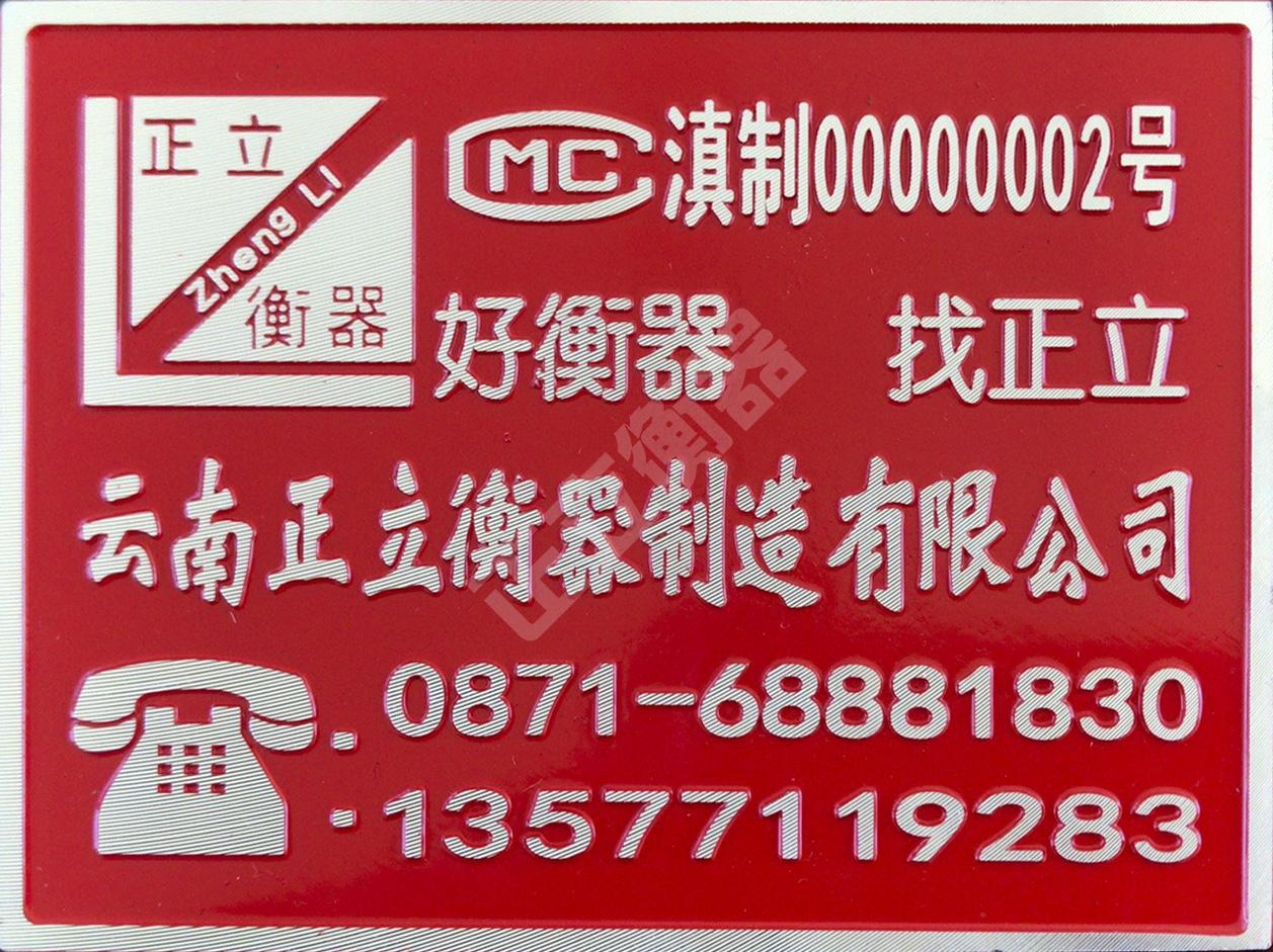 电子汽车衡产品标牌