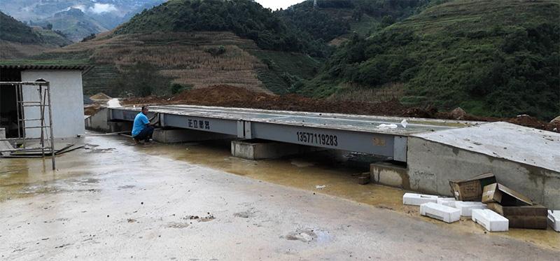 云南交投水泥厂专用地磅安装案例
