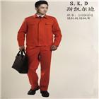 昆明160604橘红纯棉斜纹工作服